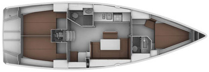 Bavaria 40 Cruiser - Layout