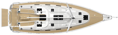 Sailing boat Bavaria 40 Cruiser - Layout
