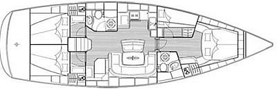 Sailing yacht charter Croatia - Bavaria 46 Cruiser - layout