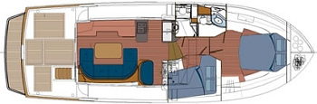 Beneteau Swift Trawler 42 - layout