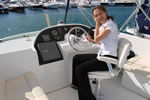 Nautilus Yachting booking manager on theTrawler's flybridge