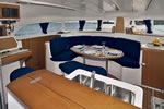 Catamaran yacht charter Croatia - Catamaran Lagoon 380 - table and seats in the salon