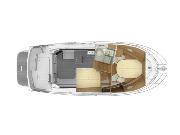 Imbarcazione Beneteau Antares 36 layout