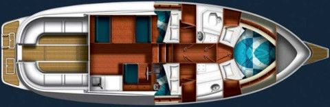 Yacht a motore SAS Adria 1002 Vector Layout
