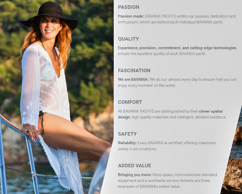 Bavaria Yachts, passion, quality, comfort, safety