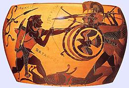 Heracles fighting Geryon