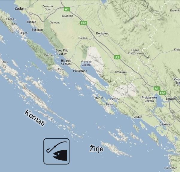 Big game fishing Croatia  Fishing area