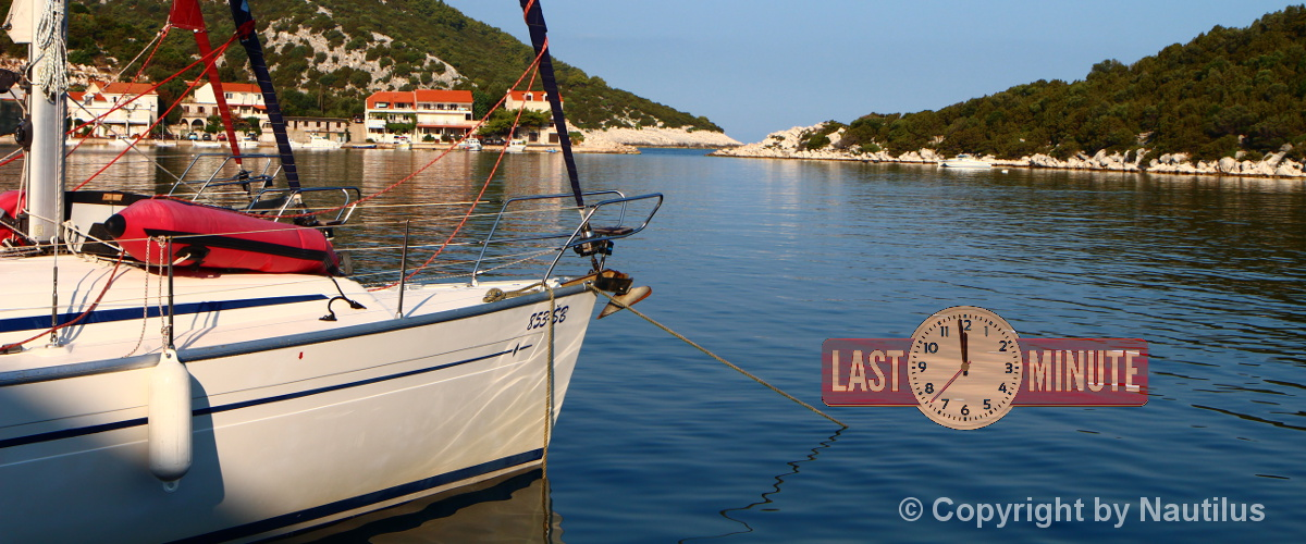 Sailing boats charter in Croatia, last minute offers