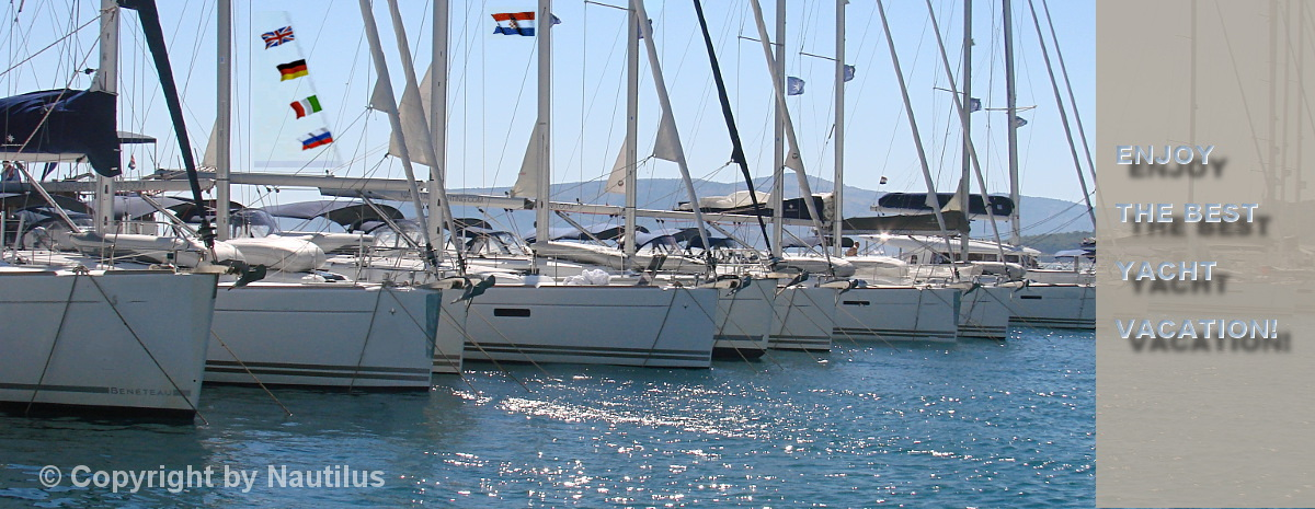 Yachts in charter base in Croatia