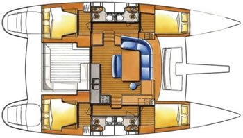 Catamaran Lagoon 440 layout